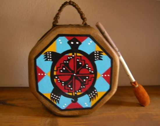 Child Turtle Hand Drum Curved