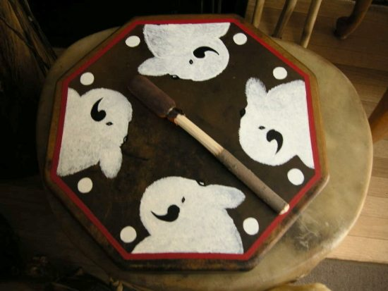 Elk Good Water Sacred White Buffalo Hand Drum