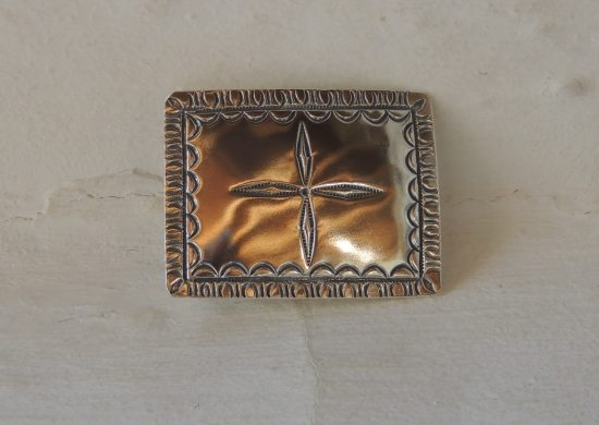 Morning Star Blossoms Belt Buckle Polished Finish 1