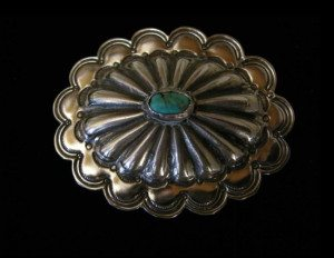 Sunburst Sky Concha Belt Buckle