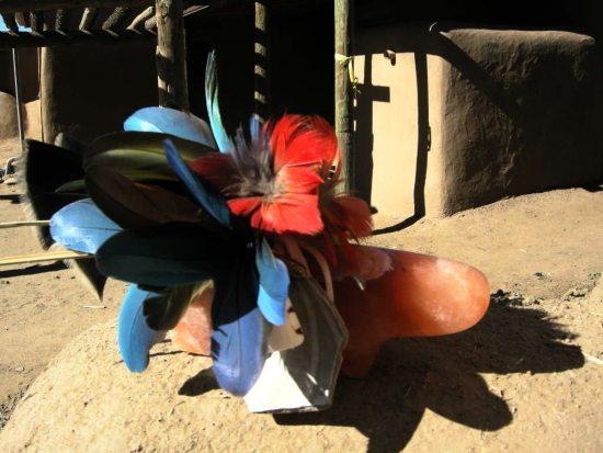 Mark Swazo Hinds Orange Alabaster Bear Sculpture