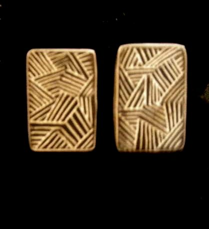Mimbres Pottery Style Stud Earrings