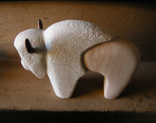 Ned Archuleta Buffalo Sculpture