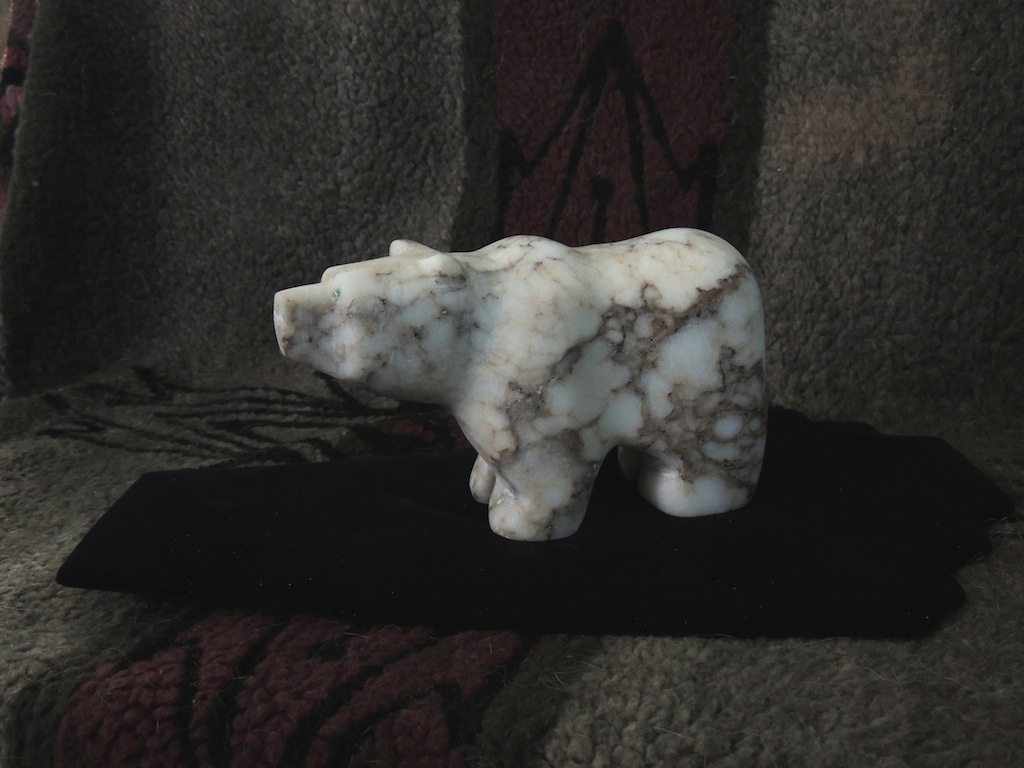 Medium Spiderweb Alabaster Bear B 2014 Left Side Resized