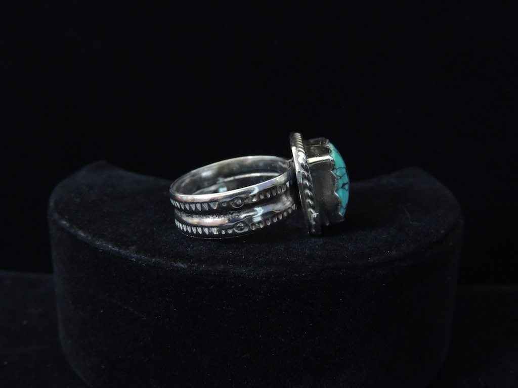 Square Blue Turquoise Ring Left Side Resized