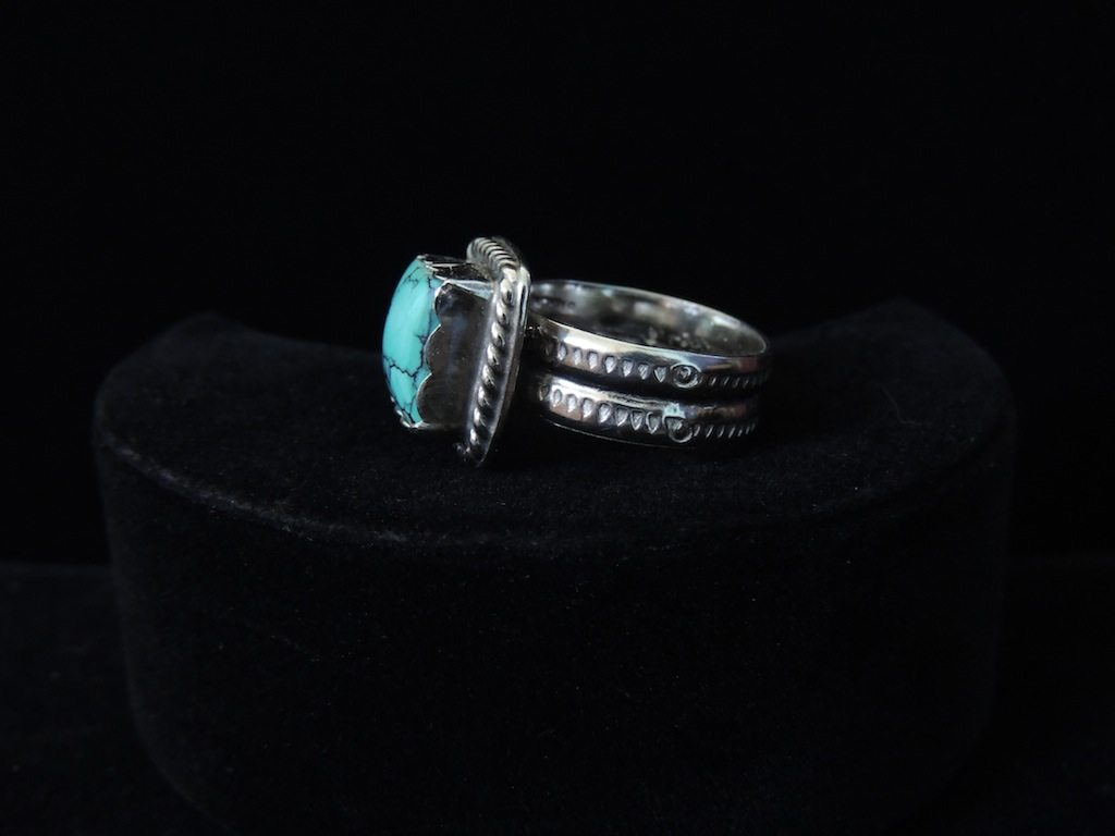 Square Blue Turquoise Ring Right Side Resized