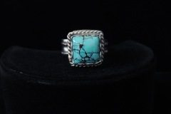 Square Blue Turquoise Ring Top View Resized
