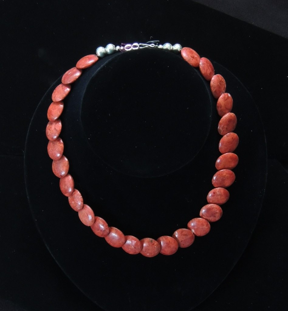 Apple Coral Bead Necklace 2 Resized