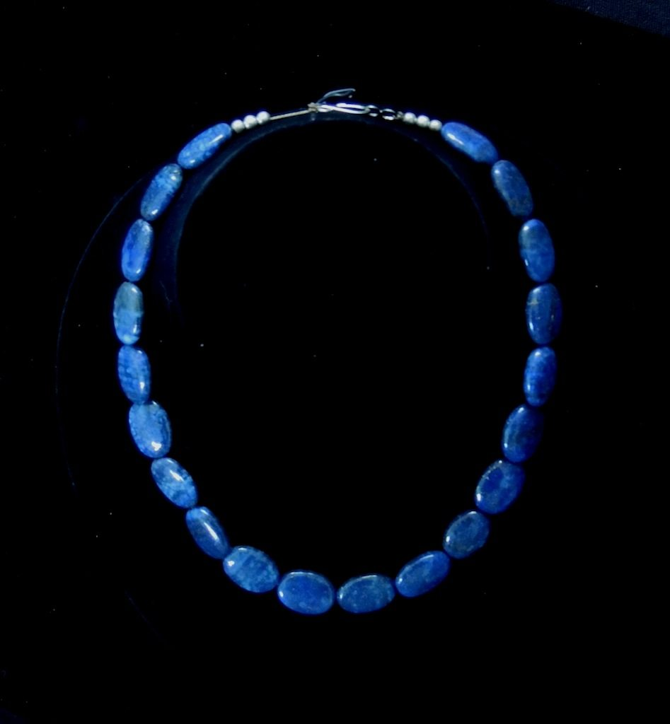 Lapis Bead Necklace B 2 Resized