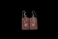 Pipestone Heartline Inlay Earrings Resized