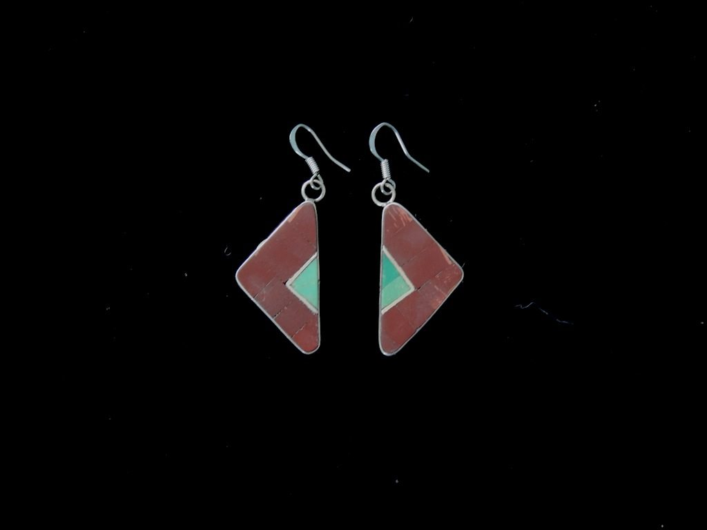 Pipestone Malachite Inlay Earrings Resized