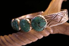 Sky Medicine Cuff Bracelet Angled View