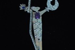 Warrior Woman Pin Amethyst Lapis 2