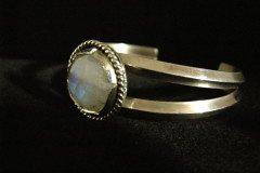 Dual Strand Moonstone Cuff Bracelet A