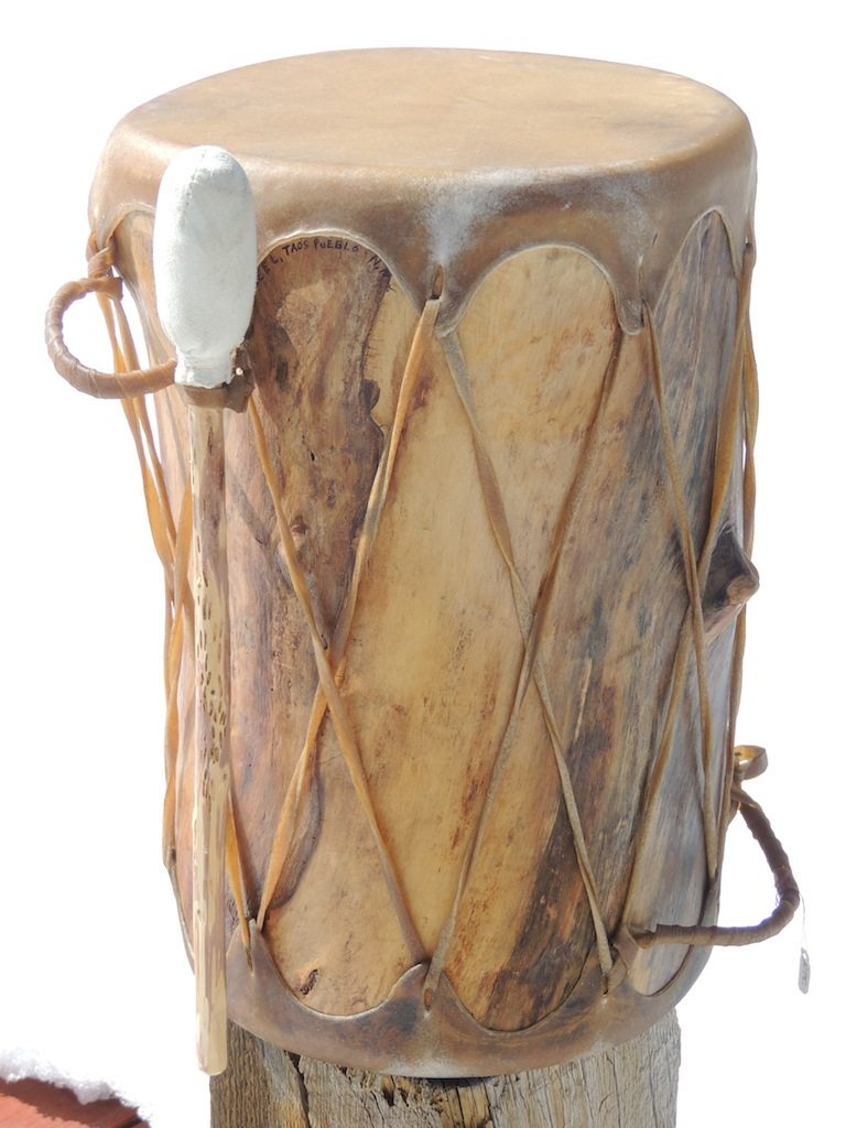 Small Traditional Pueblo Drum Resized