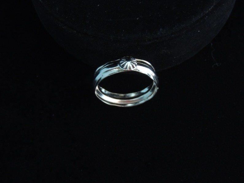 Plain Starburst Ring Side View Resized