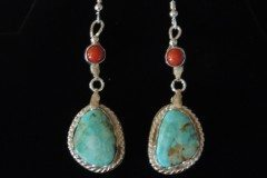 Cripple Creek and Coral Earrings Rotated Resized