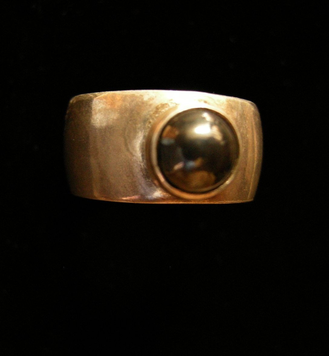 Hematite Solitaire Ring