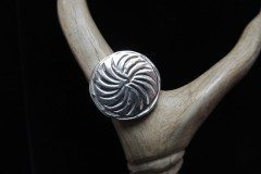Whirlwind Moon Ingot Ring Top