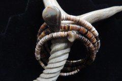 Cowrie Heishi Coil Bracelet Resized