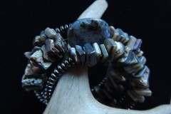 Abalone Hematite Peruvian Opal Coil Bracelet Resized