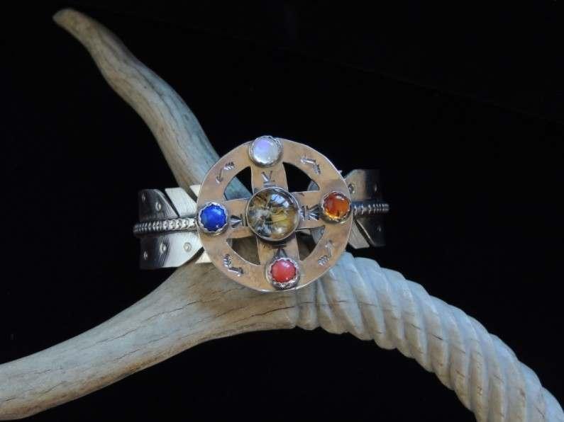 Medicine Prayers Cuff Bracelet Top