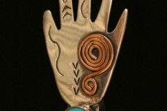 Hand Pin Copper Spiral Resized