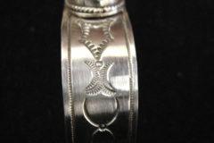White Buffalo Turquoise Cuff Bracelet Side B