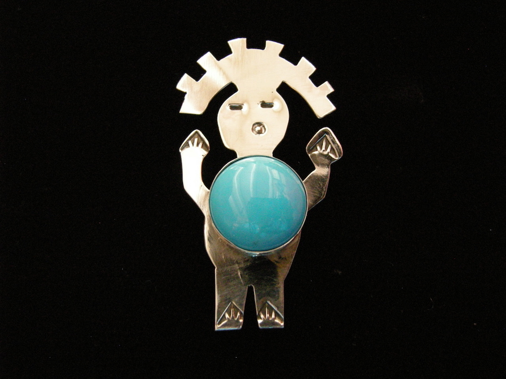 Sleeping Beauty Turquoise Fat Man Pin Resized