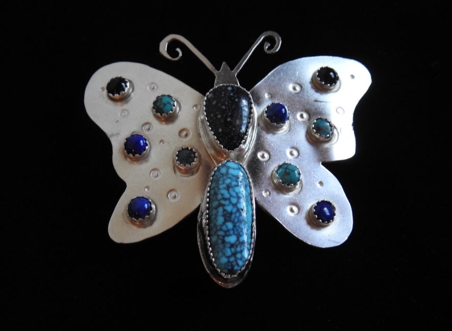 Turquoise Variscite Butterfly Barrette