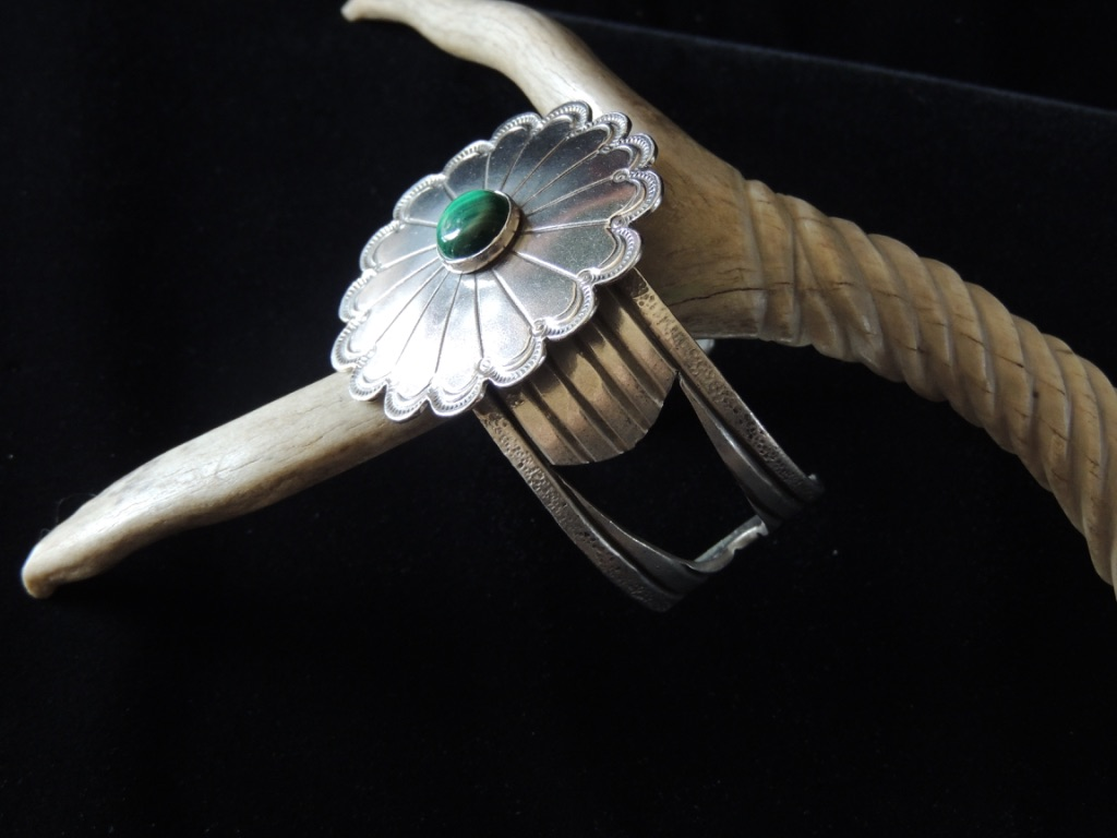 Earth Flowering In the Light Cuff Bracelet Side View