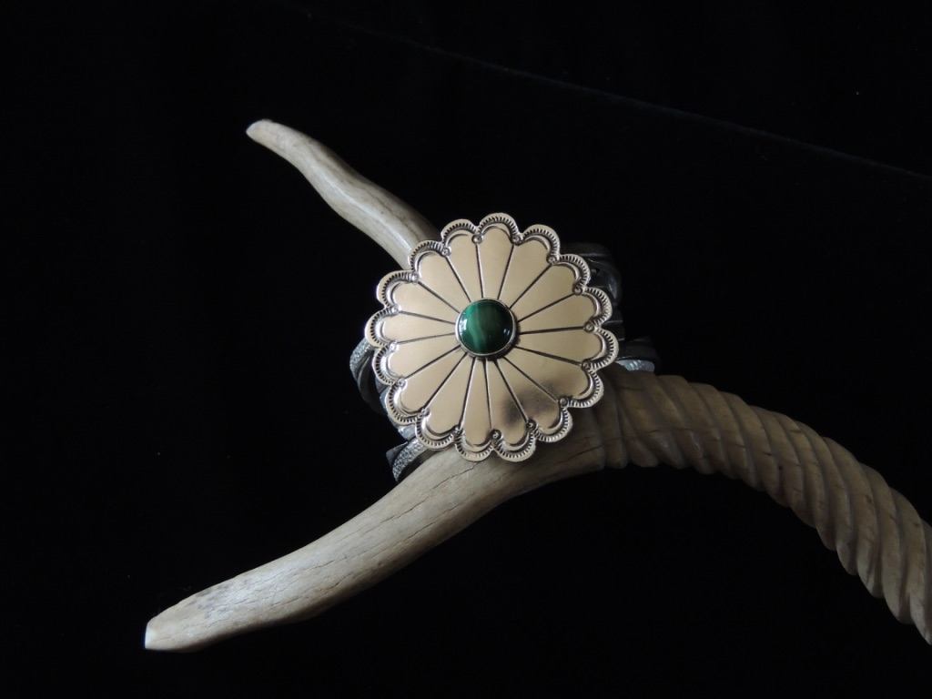 Earth Flowering In the Light Cuff Bracelet Top View