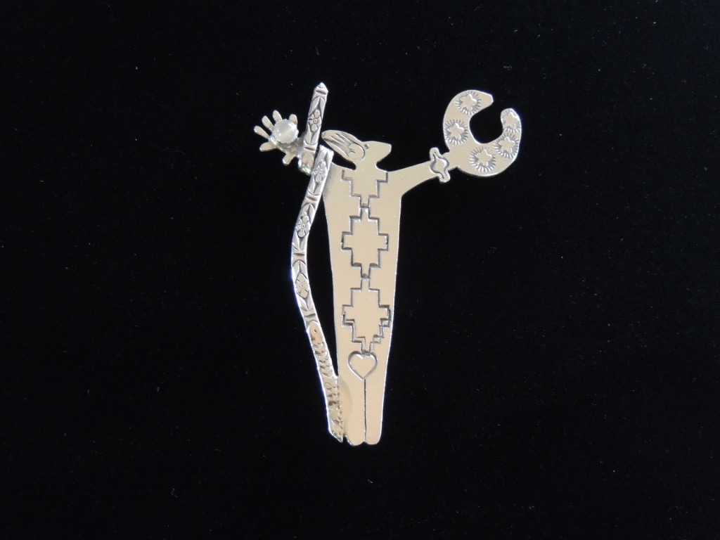 Moondust and Starlight Warrior Woman Pin