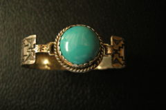 Round Turquoise Hook Bracelet Top View Resized